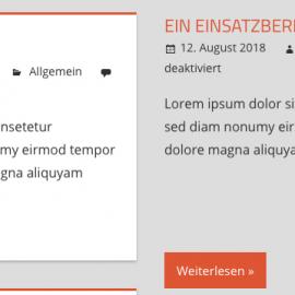 Wenn sich Einsatzberichte nicht dem Design der Seite anpassen